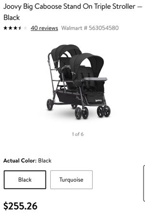 Joovy Big Caboose Stand On Triple Stroller for Sale in Ontario, CA