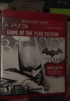 Batman Arkham City, GOY edition for PS3, unopened, still sealed for Sale in Newcastle, OK