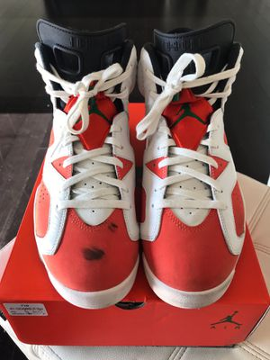 Nike Air Jordan Retro 6 VI Orange/White Size 10 1/2 men for Sale in Los Angeles, CA