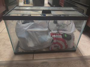 10 gallon tank with everything you need for fish for Sale in Heathrow, FL