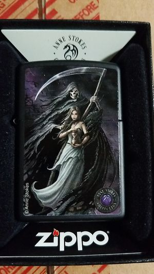 Zippo anne stokes woman and reaper black matte 28856 for Sale in Los Angeles, CA