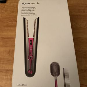 New Dyson Corrale Hair Straightener Flat Iron Nickel Fushia Gift Package for Sale in Los Angeles, CA
