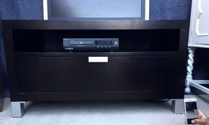 Fancy WOODEN TV STAND WITH A Blue Ray ALL 2 for $100.00 for Sale in San Francisco, CA