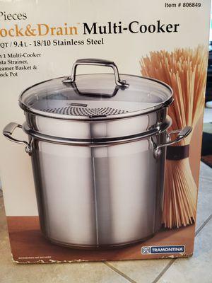 Tramontina 10 QT. 18/10 SS Lock & Drain Multi-Cooker for Sale in Seminole, FL