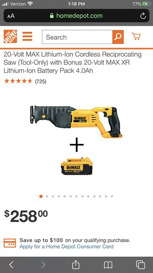 Delta reciprocating saw and flashlight ( no batteries) for Sale in Las Vegas, NV