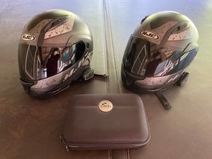 HJC motorcycle helmets with Scala rider audio kit for Sale in Newport, OH