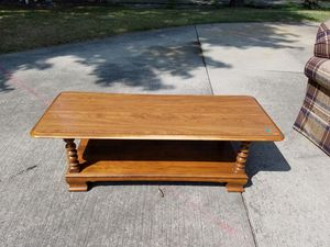 Ethan Allen solid wood coffee table with formica top for Sale in Strongsville, OH