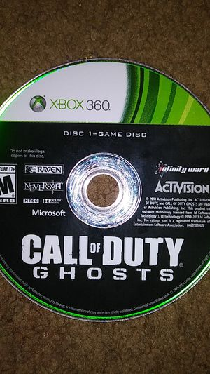 Xbox 360 used game called call of duty ghosts for Sale in West Chicago, IL