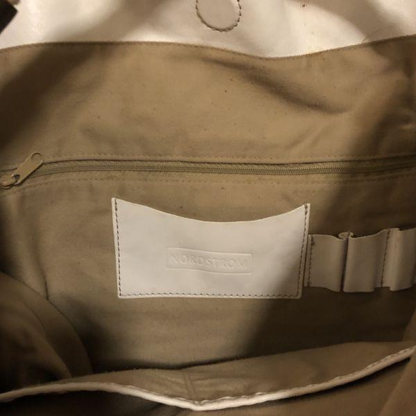 Large White Leather Nordstrom Hobo Bag