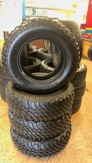 Used set LT 255-75R17, BFGOODRICH tires for Sale in Raleigh, NC