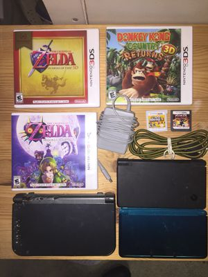 3ds xl, 3ds, ds , Zelda Majora's Mask, Ocarina Of Time, Donkey Kong Country Returns, new super Mario Bros 2 Nintendo gameboy console bundle lot for Sale in Lynnwood, WA