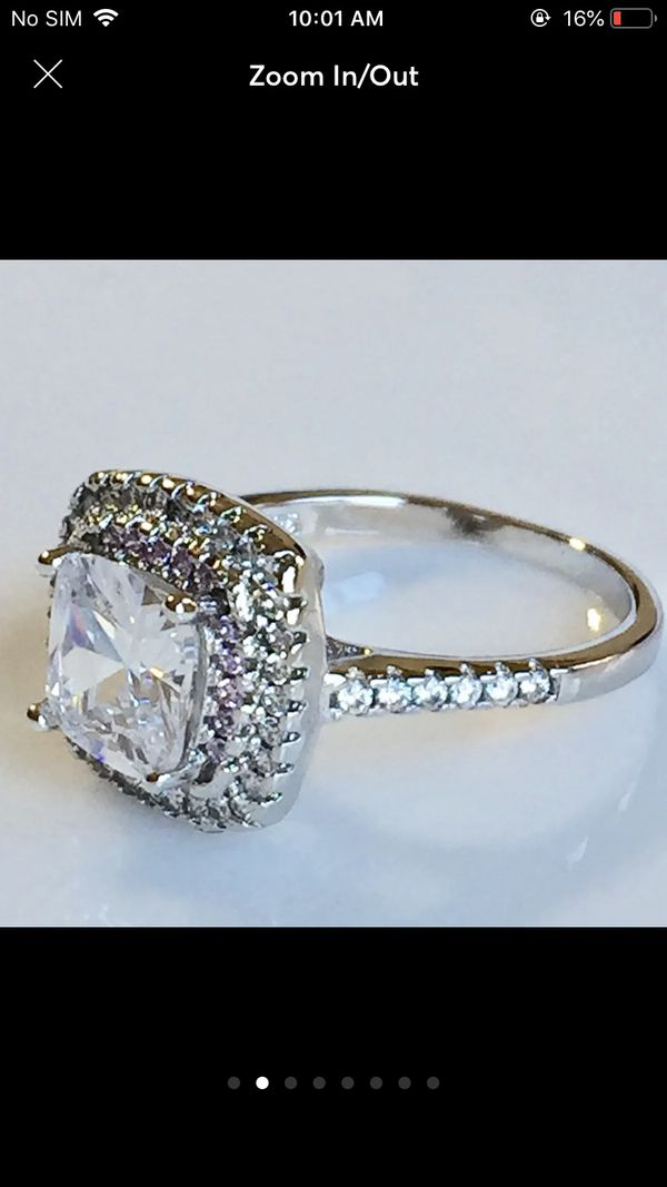 3ct AAA silver wedding engagement ring women's jewelry accessory