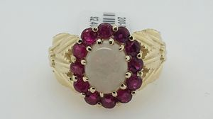 Genuine Opal and Ruby Ring for Sale in Longview, TX