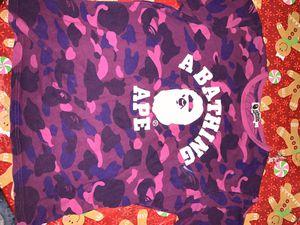 Purple Camo Bape shirt Size Large for Sale in Chicago, IL