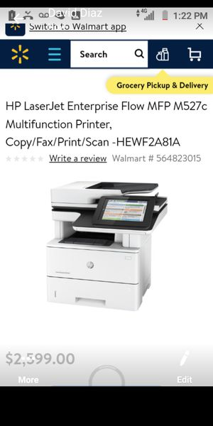 MP Laser printer fax scan copy for Sale in Fresno, CA
