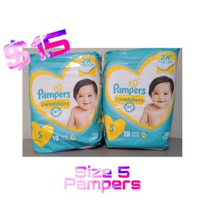 Pampers Swaddlers Diapers Size 5 for Sale in Brooklyn, NY