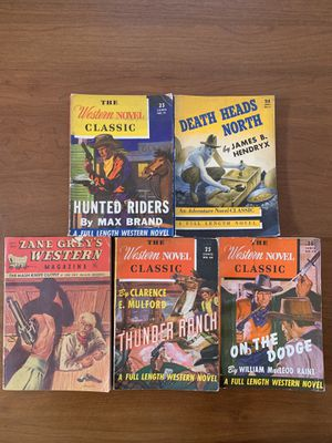 Lot of 5 1930s/ 40s Western Pulp Novels for Sale in Brambleton, VA