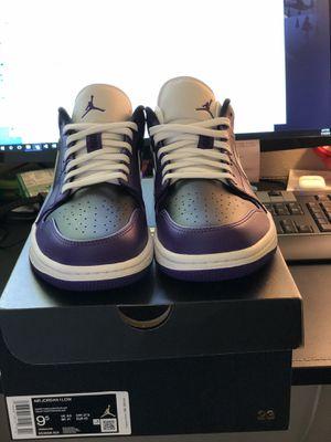Jordan 1 low court purple black size 9.5 for Sale in Seattle, WA
