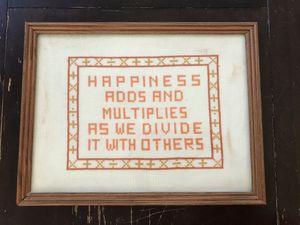 Framed Cross Stitch - Well Loved - Vintage for Sale in Henderson, NV