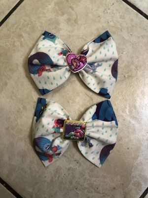 Trolls fabric bow for Sale in Anaheim, CA