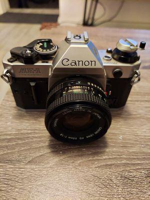 CANON AE-1 PROGRAM SLR Film Camera & CANON FD 50mm f1.8 Lens Read Description for Sale in Miami, FL