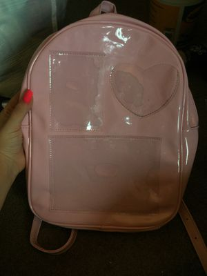 Forever 21 pink and clear backpack for Sale in West Sacramento, CA