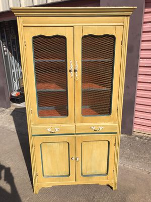 Antique Wood Pie Cabinet for Sale in Denton, TX