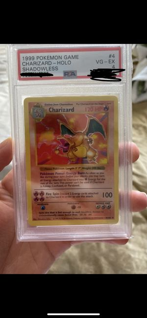 Shadowless charizard psa 4 pokemon card for Sale in Raleigh, NC