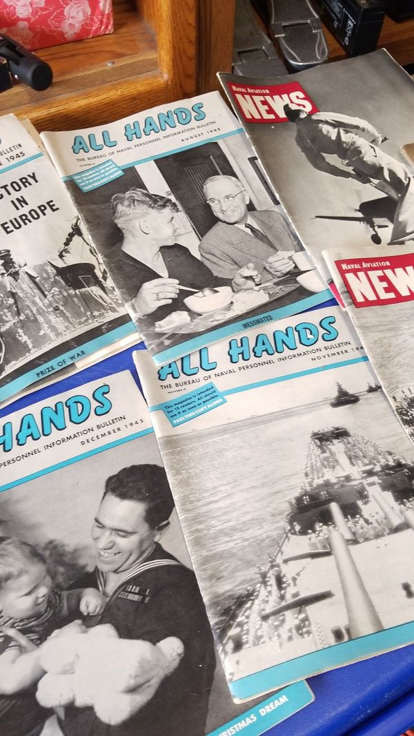 All Hands 1945 Navy Magazines all for $10