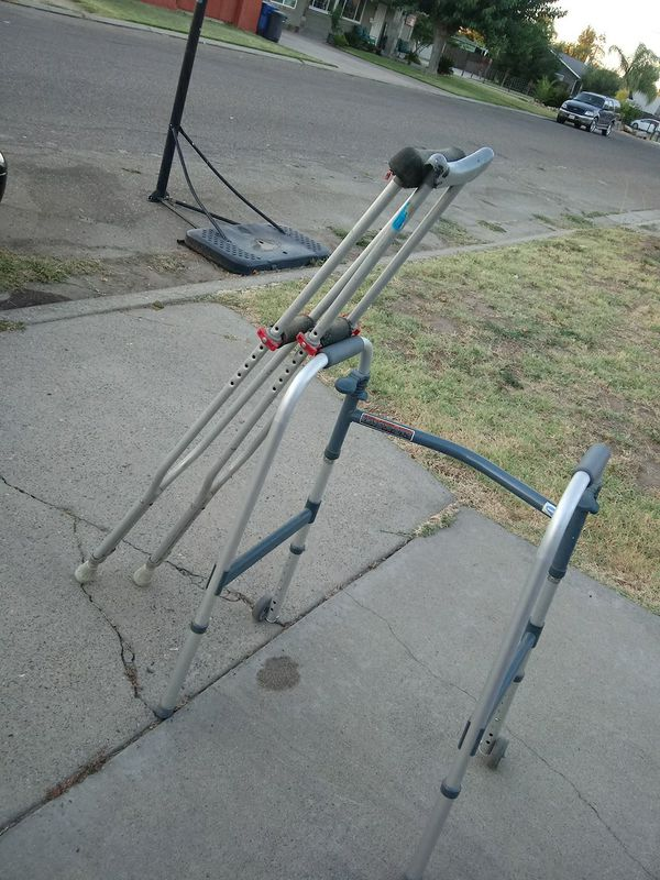 Crutches and walker