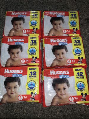 Huggies Snug & Dry Ultra Size 3 for Sale in Whittier, CA