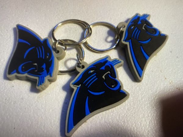 One Carolina Panthers keychain