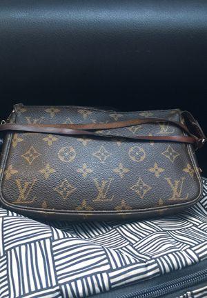 Louis Vuitton Shoulder Bag Pochette Accessories Brown Monogram Canvas Leather Clutch for Sale in Arlington, TX
