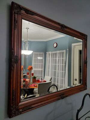 Dark stained wooden mirror for Sale in Brentwood, TN