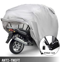 "New! Happybuy Motorcycle Shelter Storage Waterproof Motorbike Storage Tent Oxford 600D Silver Color 106""x 41""x 61"" Motorcycle With Carry (LS) for Sale in Pomona,  CA"