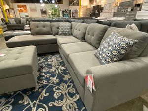 Fabric Sectional Sofa with Ottoman, Grey for Sale in Downey, CA