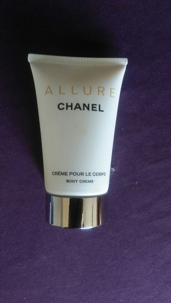 Chanel Allure body creme and 1.7 perfume