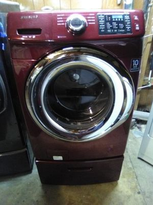 Red Samsung Steam front load Washer with drawer for Sale in Ephrata, PA