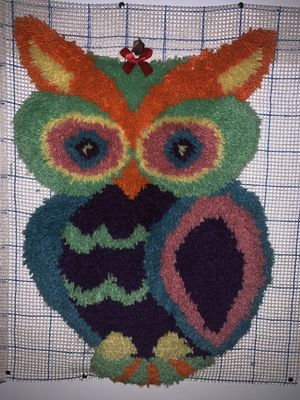 Owl latch hook rug for Sale in Austell, GA