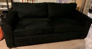 Like New Microfiber Sleeper Sofa/Sofa Bed/Pull-Out Couch - Black for Sale in Tempe, AZ