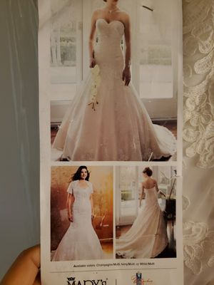 New wedding dress zise 10 for Sale in Concord, CA
