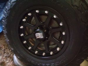 Custom rims and brand new b.f goodrich tires for Sale in Marengo, OH