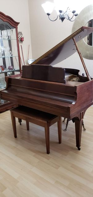 Antique Baby Grand Piano from the 1900s & 2 Types of Chairs for Sale in Ocean Ridge, FL