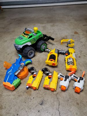 Boy toy guns and big monster truck all for $12 for Sale in San Lorenzo, CA