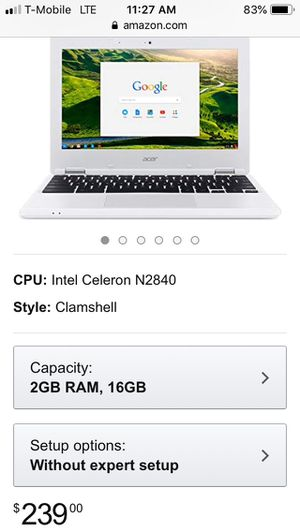 Acre Chromebook (Unlocked) 100$ can lower price for Sale in Lakeside, CA