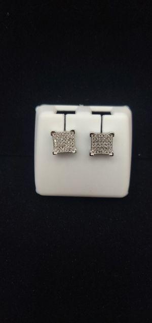 14k Gold over silver Square Diamond Ear for Sale in Tucker, GA