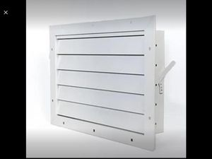 Aluminum Garage Door Air Vent Grill Damper Control Lever For Winter Summer Setting 17.5 W X 12 H for Sale in Riverside, CA