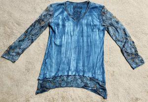 Women's Girls Kids Blue Tie Dye Lace Half Sleeve Blouse Shirt Bu Glima Size: S for Sale in Raleigh, NC