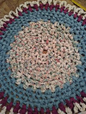Hand made rugs . colourful and fun.wash in your washer machine.strong and different. for Sale in Amarillo, TX