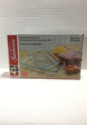 Sunbeam Glass Bakeware Set New for Sale in Milan, MI